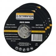 Kit 5 discos de corte Inox 4.1/2x7/8 Starfer