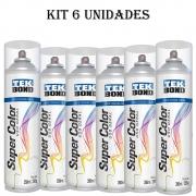 Kit 6 Tinta Spray Uso Geral Tekbond 350ml Verniz