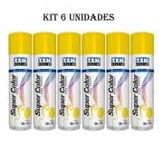 Kit 6Un. Tinta Spray Uso Geral Tekbond 350ml Amarelo