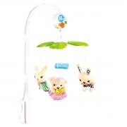 Mobile Eletrônico plush Coelhinho Infantil musical - baby Style