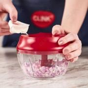Multiprocessador e Triturador Manual de Alimentos Fatiador 3 Lâminas Inox - Clink