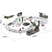 Pista Base Militar com Avião Auto Posto Carrinho Exército
