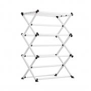 Varal De Roupas Dobrável Portátil Vertical De Chão Em Aço