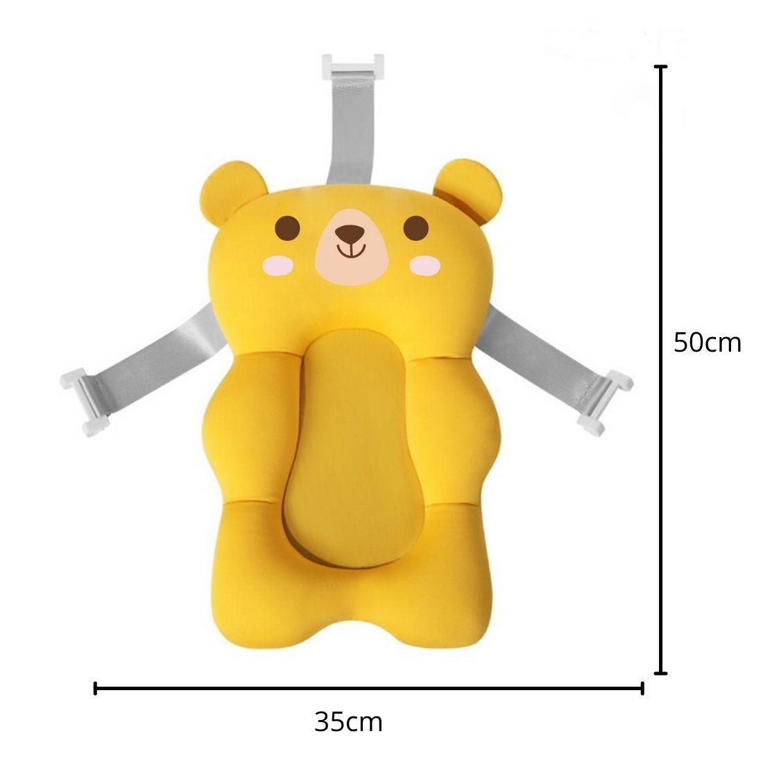 Almofada Flutuante para Banho Bebê Bóia de Banheira com Alça - Amarelo