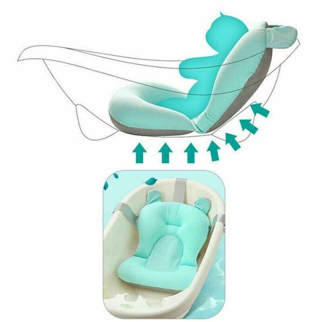 Almofada Flutuante para Banho Bebê Bóia de Banheira com Alça Azul