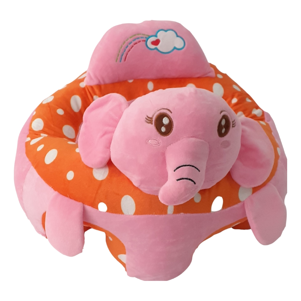 almofada sofazinho infantil elefante Baby Style rosa