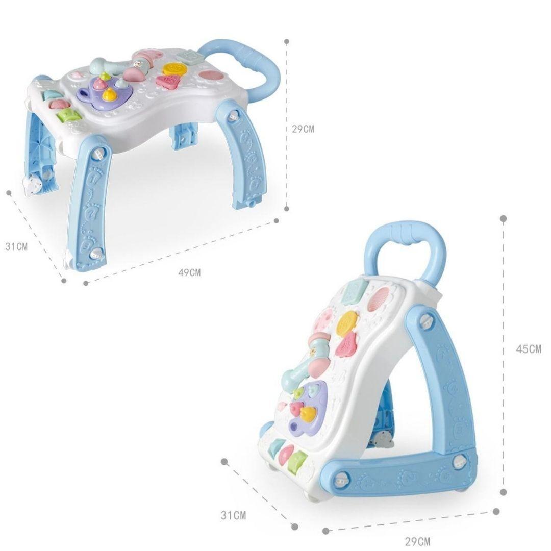 Andador Didático Infantil 2 em 1 Vira Mesinha Star Baby