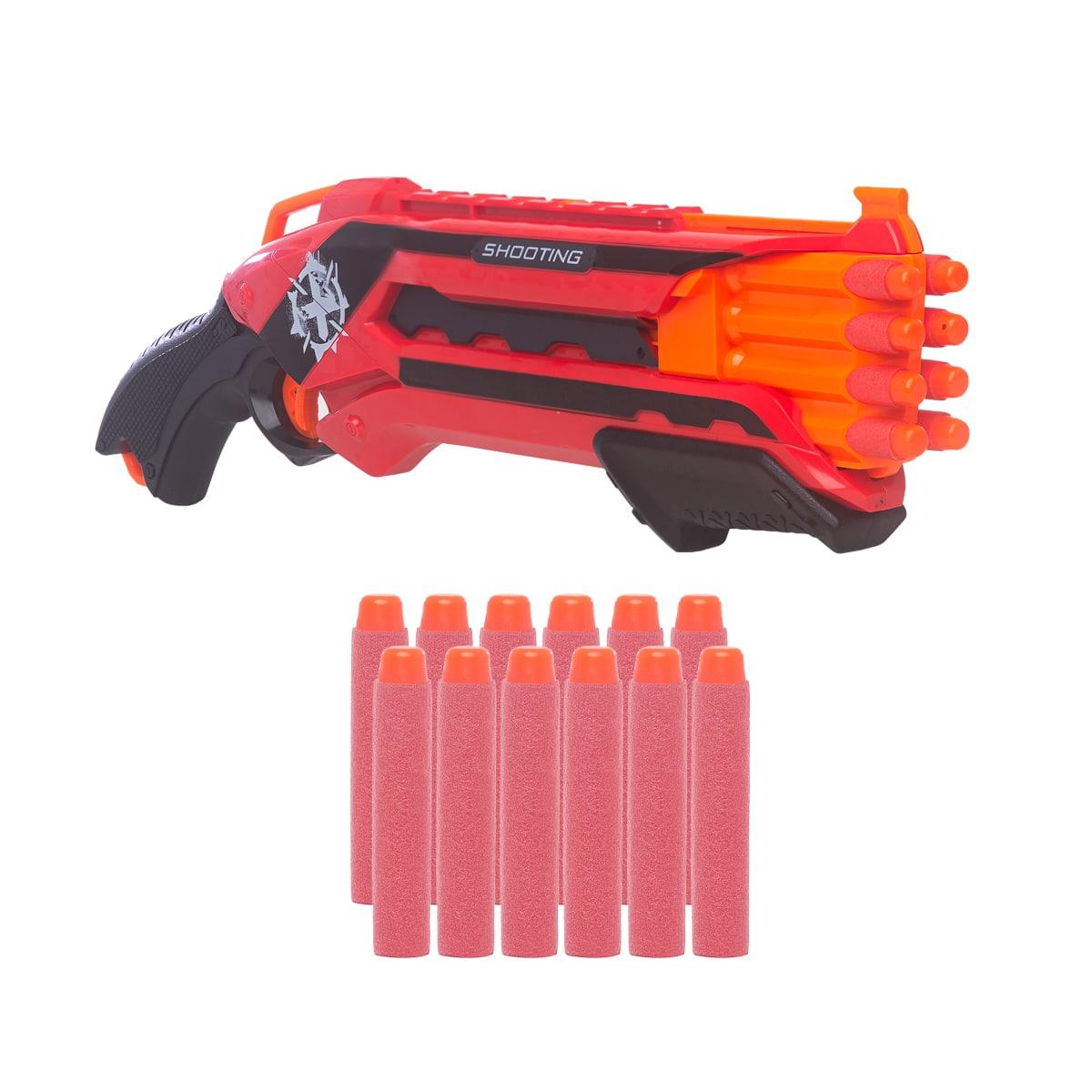 Arma Lançadora de Dardos tipo Nerf  12 dardos hero