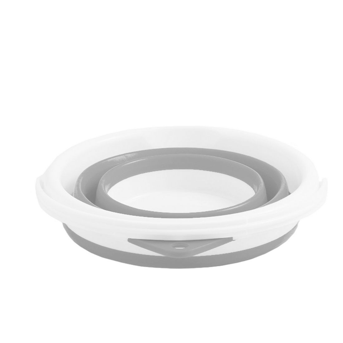 Balde Dobrável Retrátil Sanfonado Multiuso Silicone 10L - Cinza