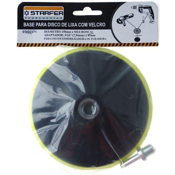 Base Disco de Lixa Auto Aderente M14x150mm - Starfer