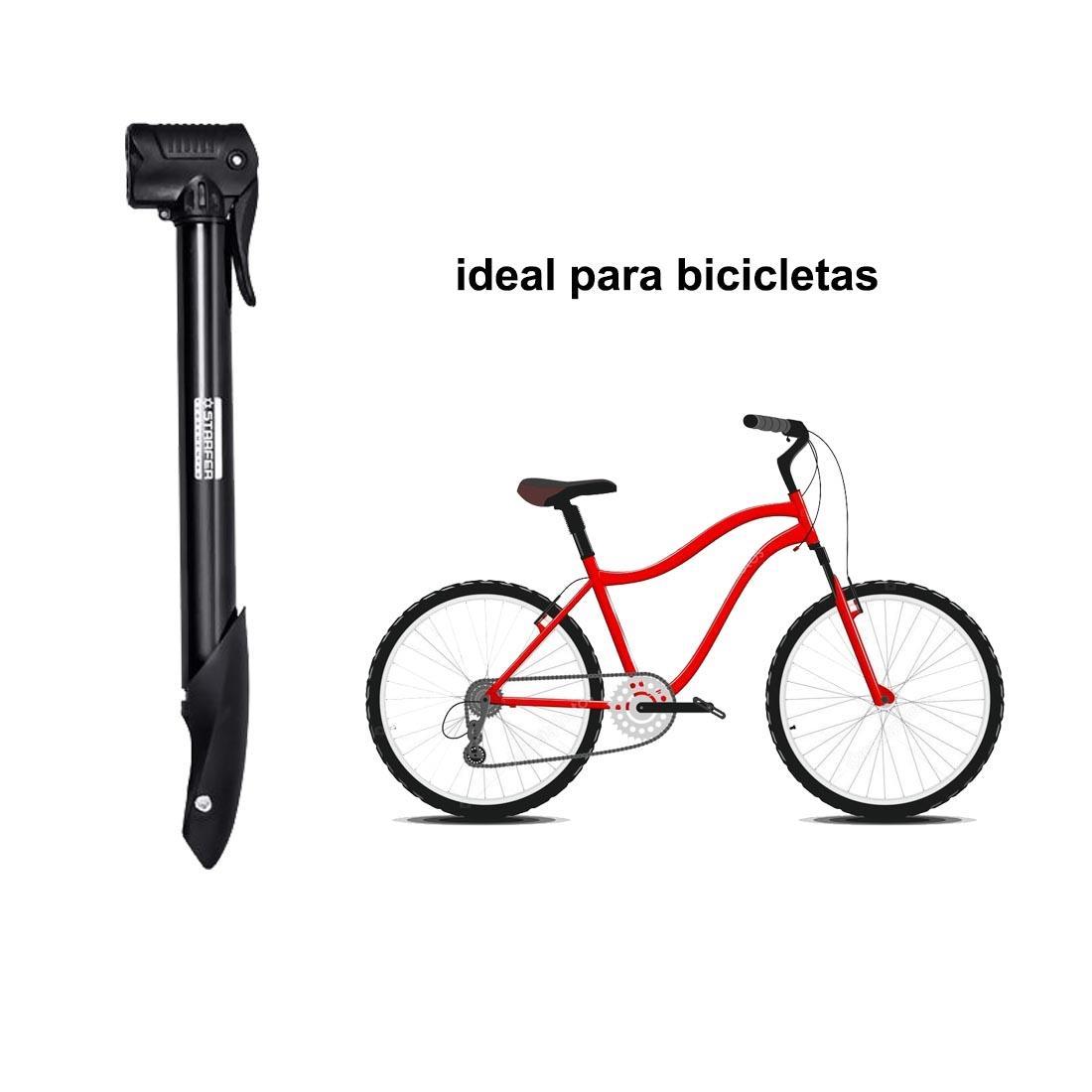 Bomba de ar mini manual para bicicleta moto Starfer