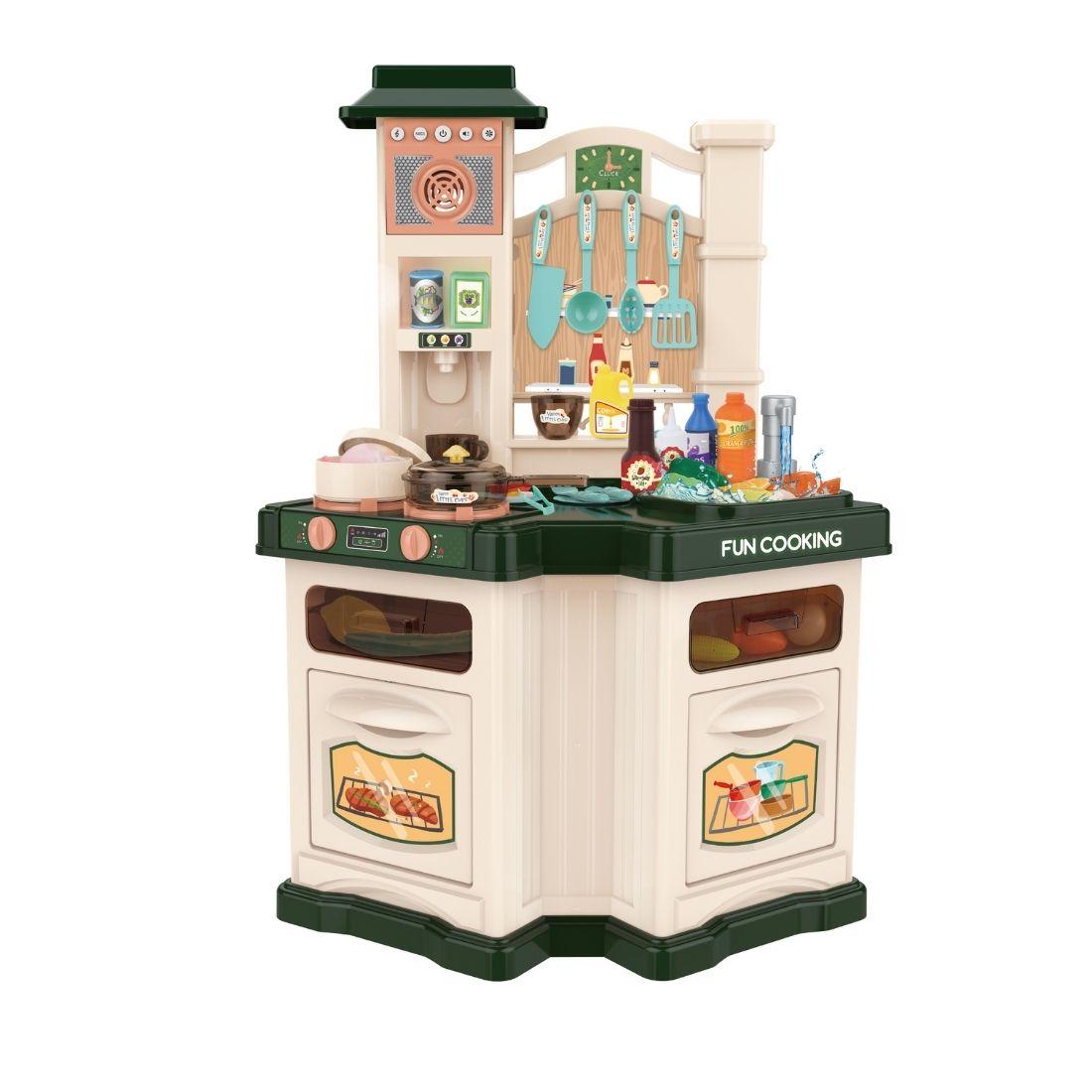 Brinquedo Chef Cozinha Kit Completo Grande Fogão Vapor Forno