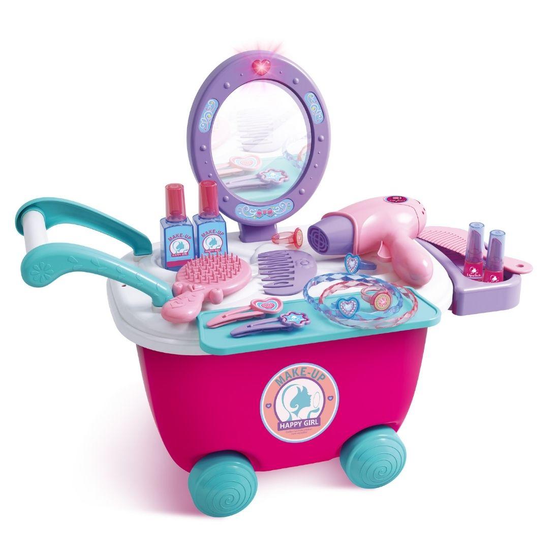 Brinquedo Kit Penteadeira Infantil com Luz 2 em 1 Baby Style