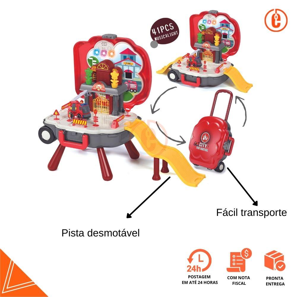 Brinquedo Maleta de bombeiro faz de conta portátil Baby Style