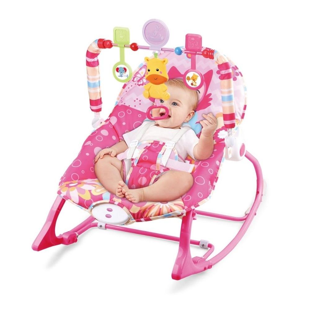 Cadeira Bebê descanso Balanço Musical Vibratória Princesas