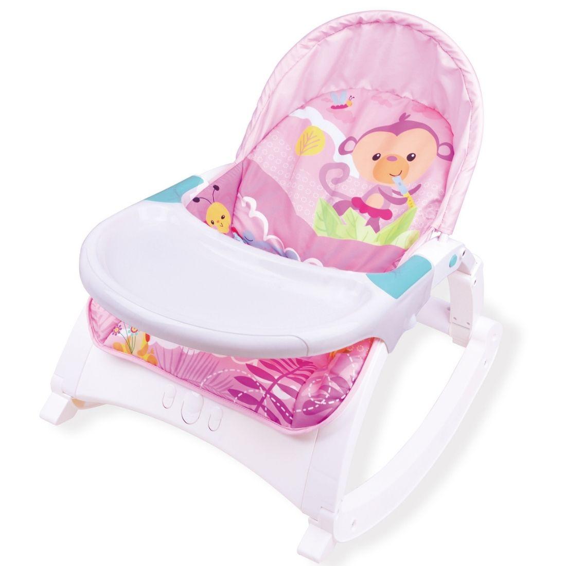 Cadeira de Descanso Bebê Alimentação Repouseira Baby Style Little - Rosa