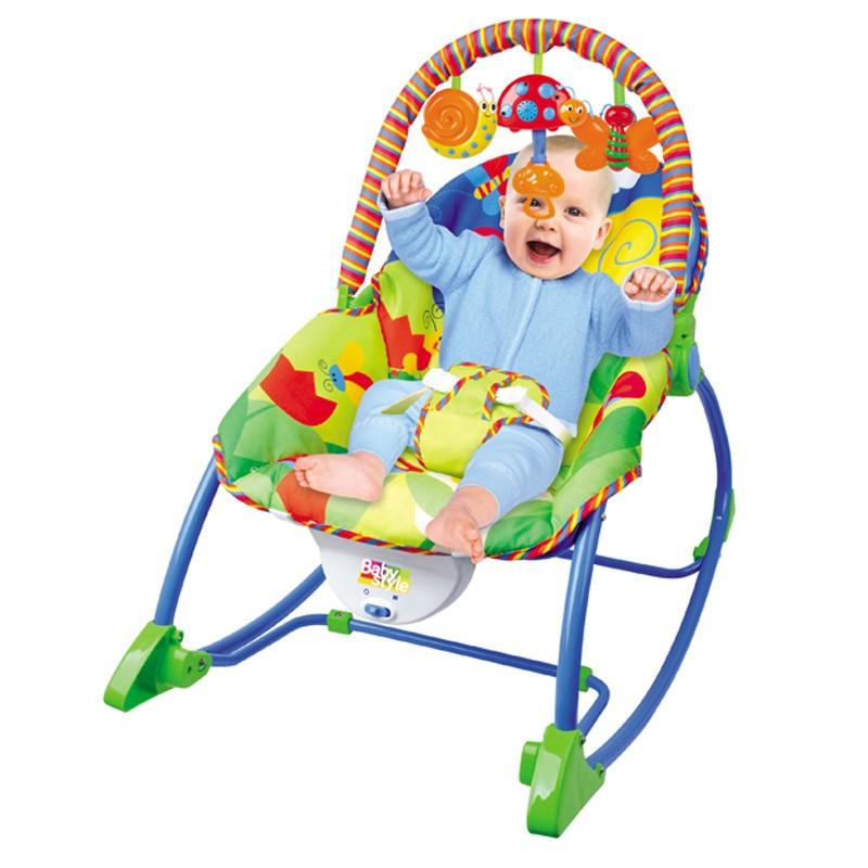 Cadeira Descanso Bebê Vibratória Musical Baby Style