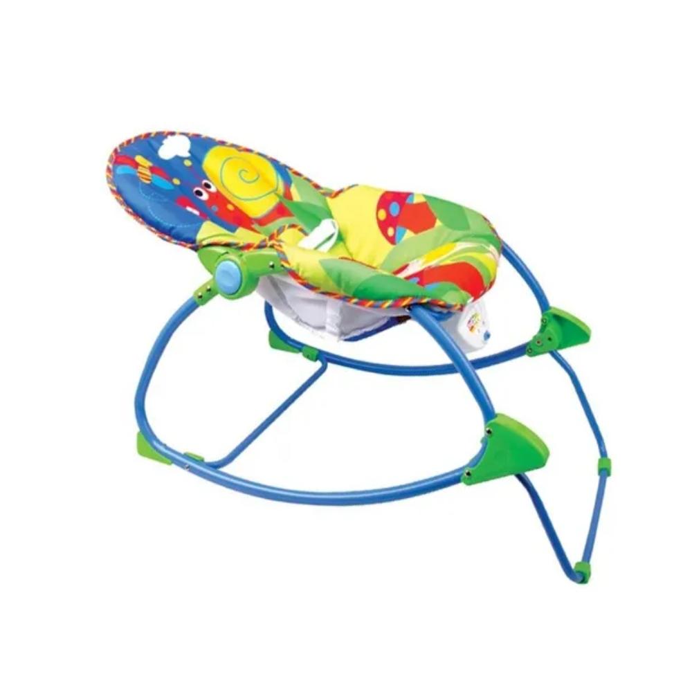 Cadeira Descanso Bebê Vibratória Musical - Baby Style Animais