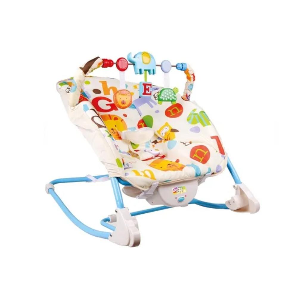 Cadeira Descanso Bebê Vibratória Musical - Baby Style Letrinhas