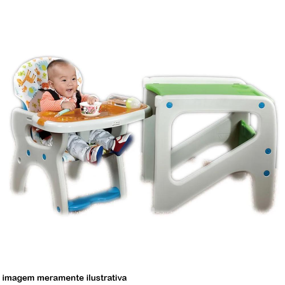 Cadeirão 2 em 1 Mesinha e Alimentação Vira Mesinha Baby Style Cinza