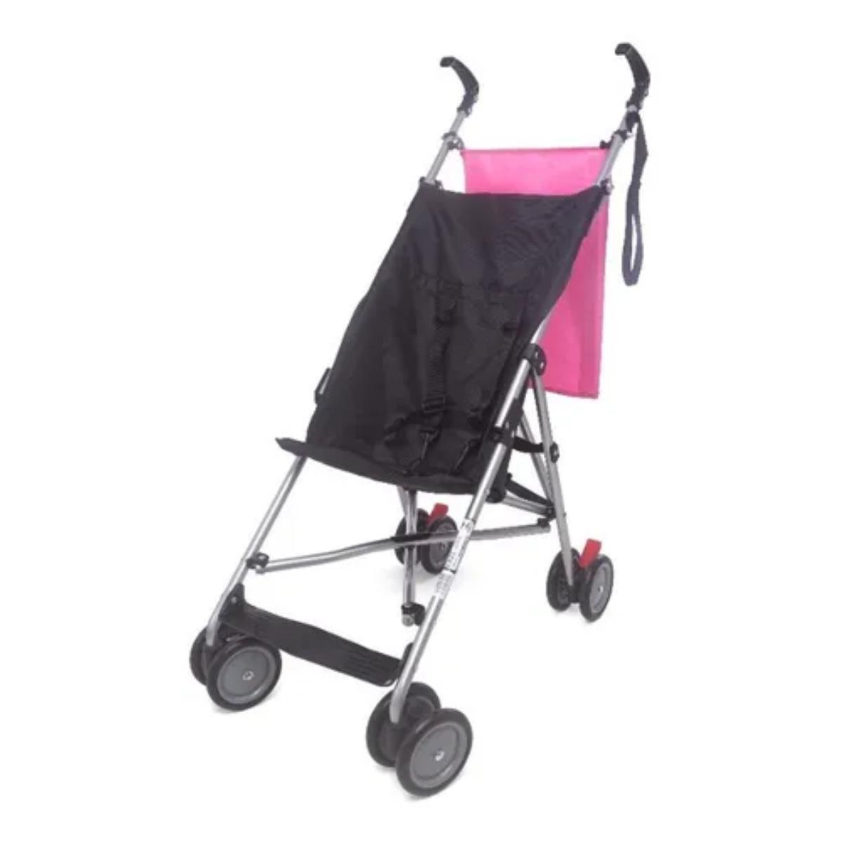 Carrinho Bebê Passeio Compacto Cool Baby Style Rosa