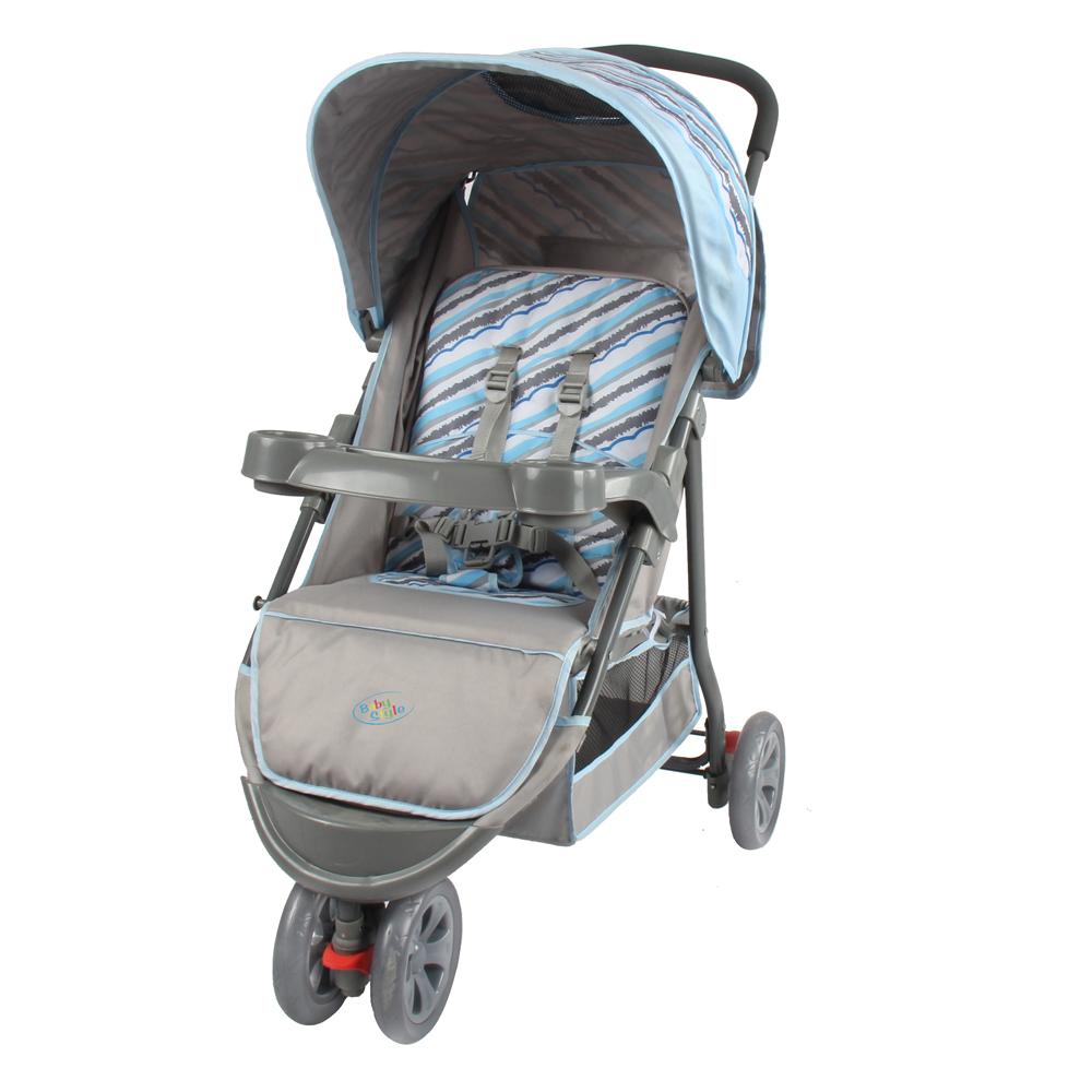 Carrinho de Bebê para Passeio Triciclo Junne Baby Style Azul