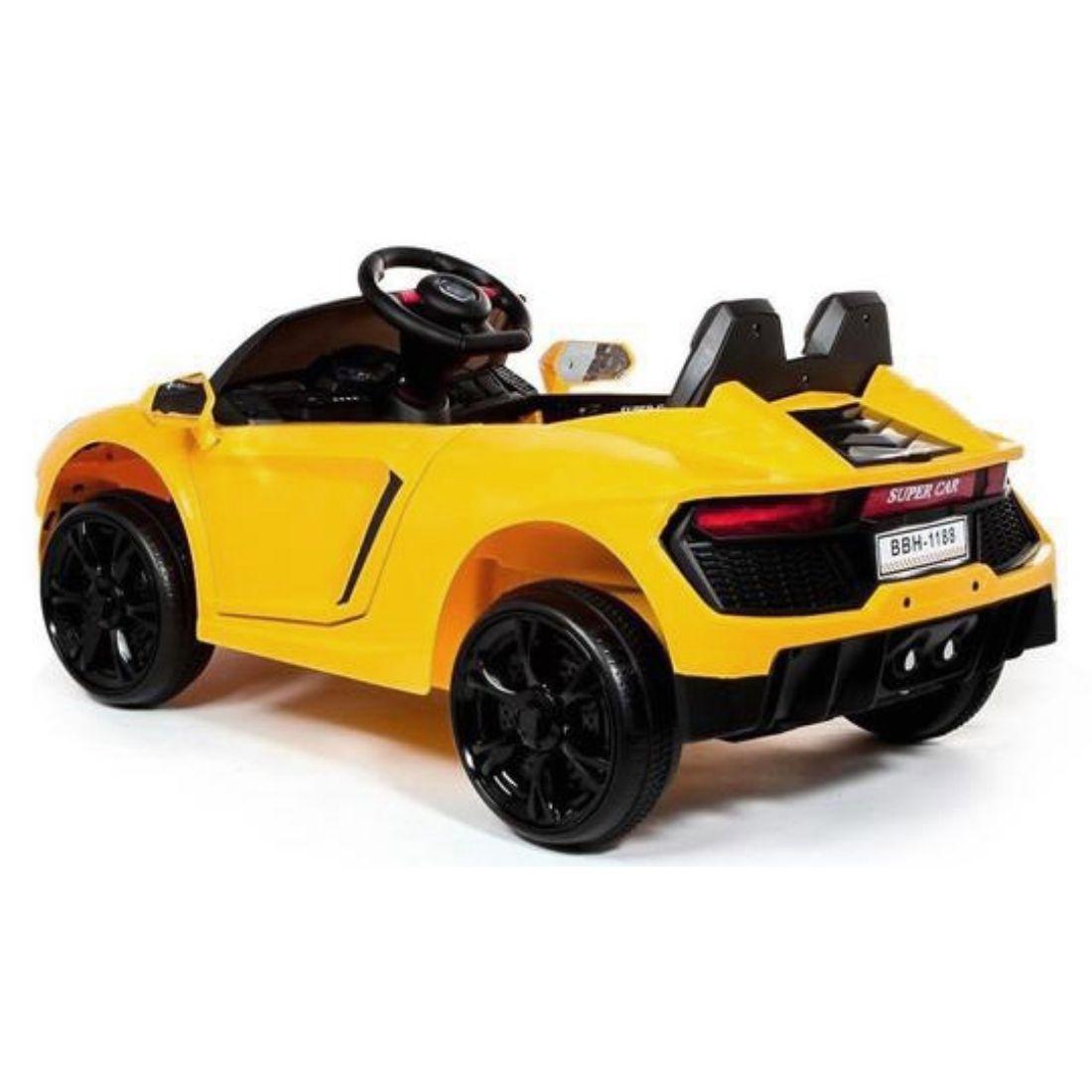Carrinho Motor Elétrico Infantil Bateria Esportivo Amarelo