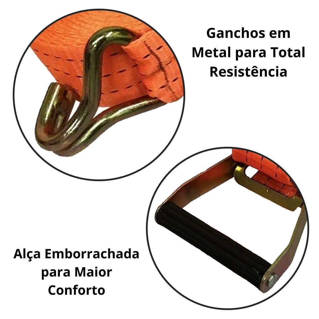 Cinta de Carga Com Catraca para Amarração 50mm x 10m Starfer