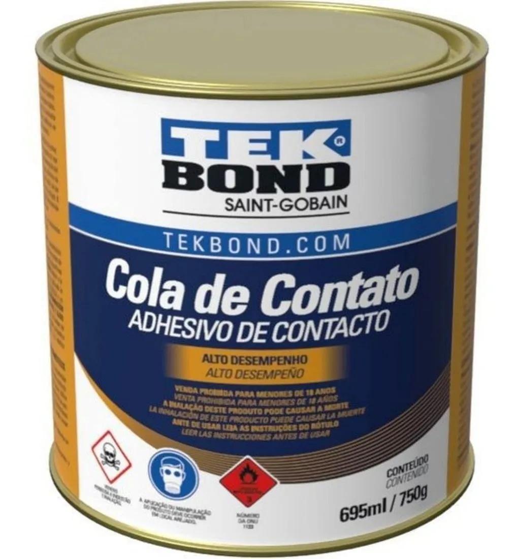 Cola de Contato Secagem Rápida Adesivo Resistente Agua 750g Tekbond