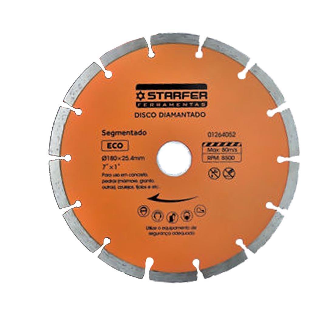 Disco de corte Diamantado Segmentado Eco 7 Polegadas Starfer