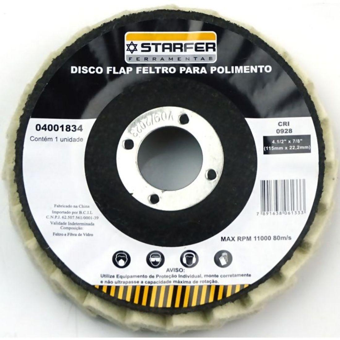Disco Flap para Polimento 4.1/2 - Starfer