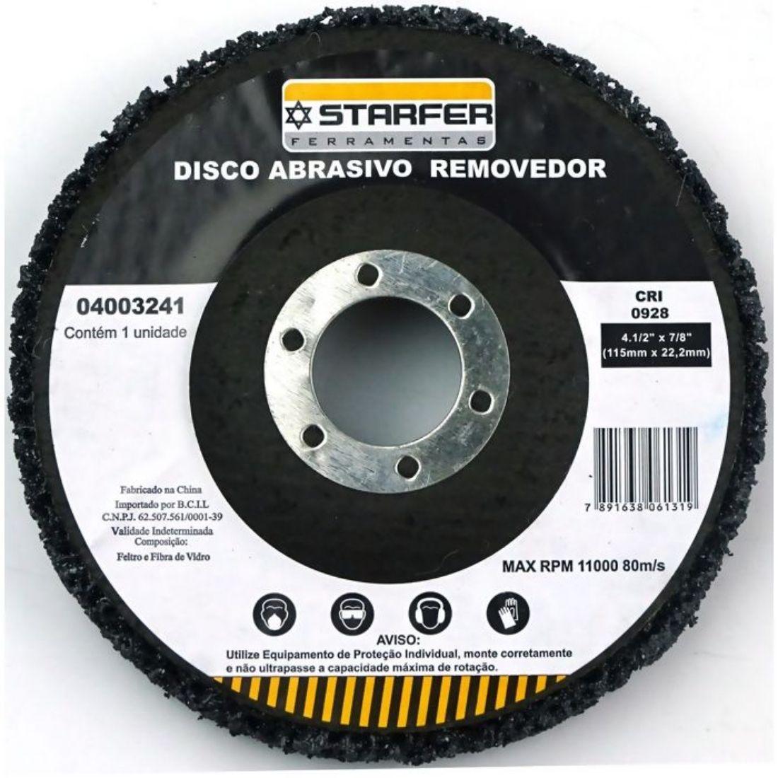 Disco Removedor Polidor 4.1/2 Starfer