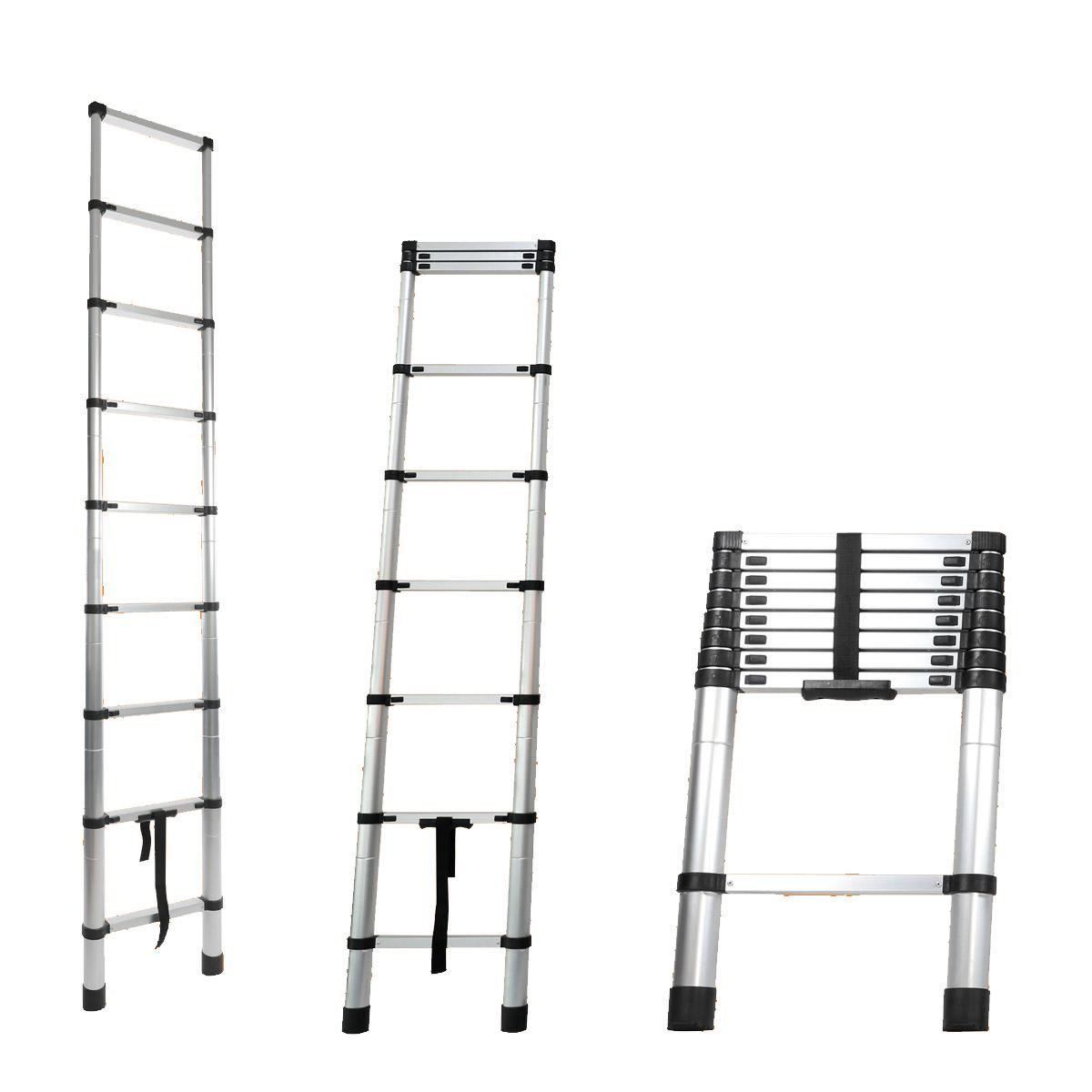 Escada alumínio telescópica 10 degraus 3,2m Starfer