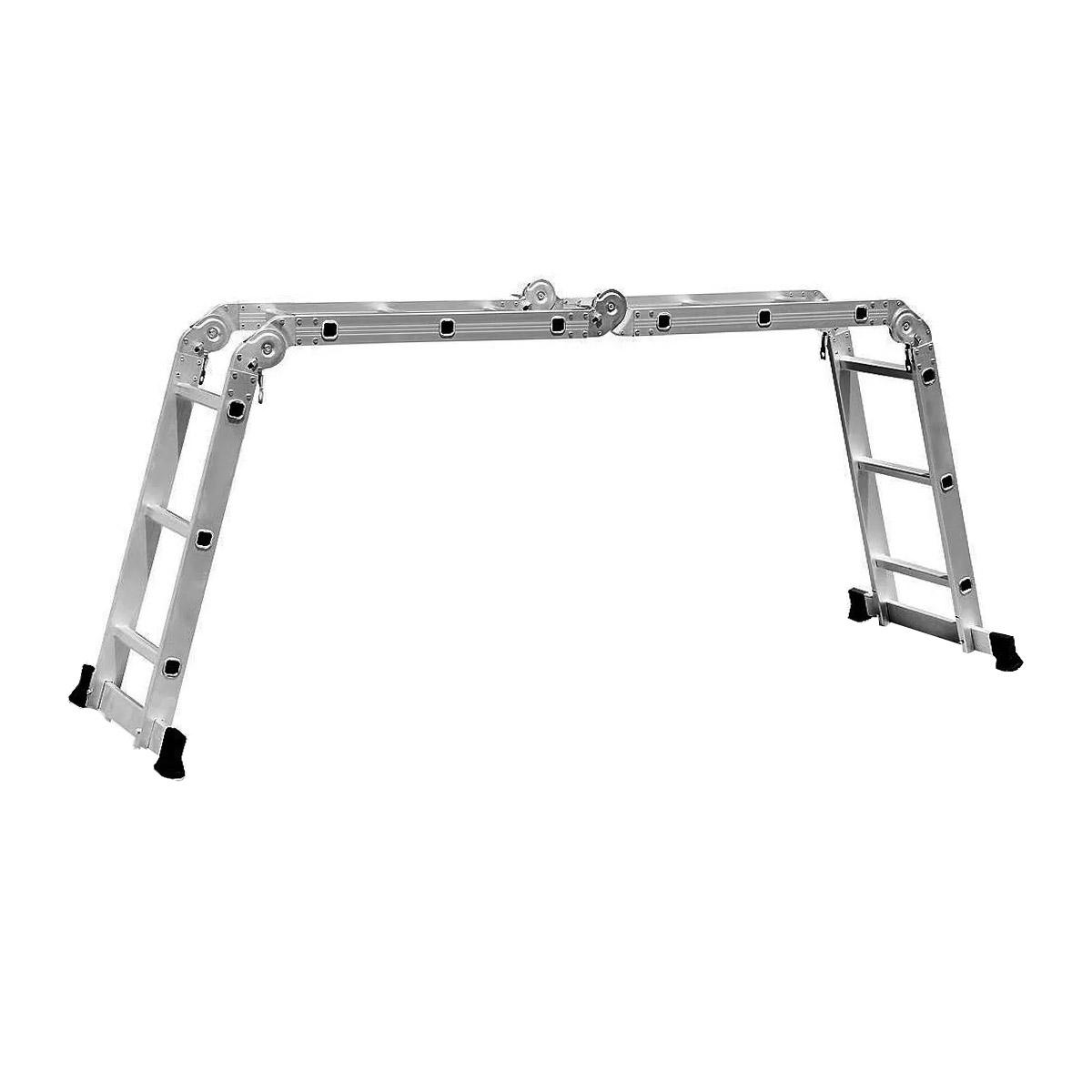 Escada com Plataforma 4x3 Alumínio 12 Degraus 3,26m Starfer