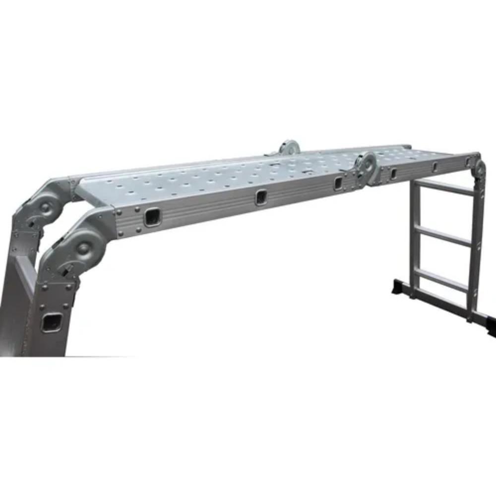Escada com Plataforma 4x4 Alumínio 16 Degraus 4,65m Starfer