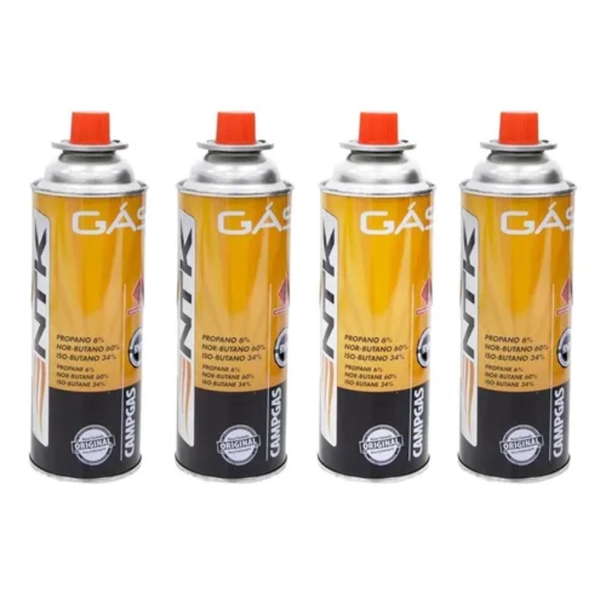 Fogão Fogareiro Portátil Camping Starfer Automático + 4 refis de gás