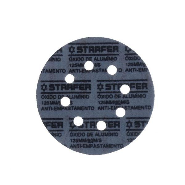 Kit 10 Un. Disco de Lixa Velcro Ferro 125mm Grão 40 - Starfer
