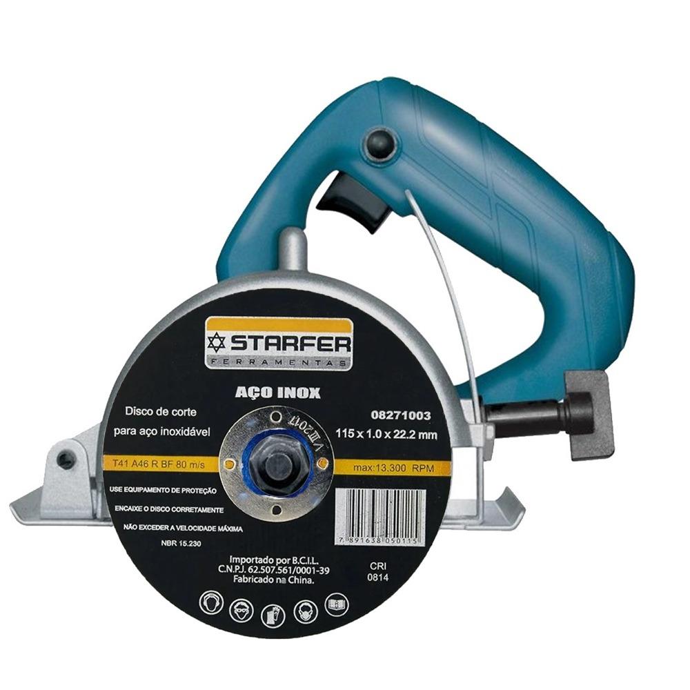 Kit  25 Discos de corte inox 4.1/2X7/8 STARFER