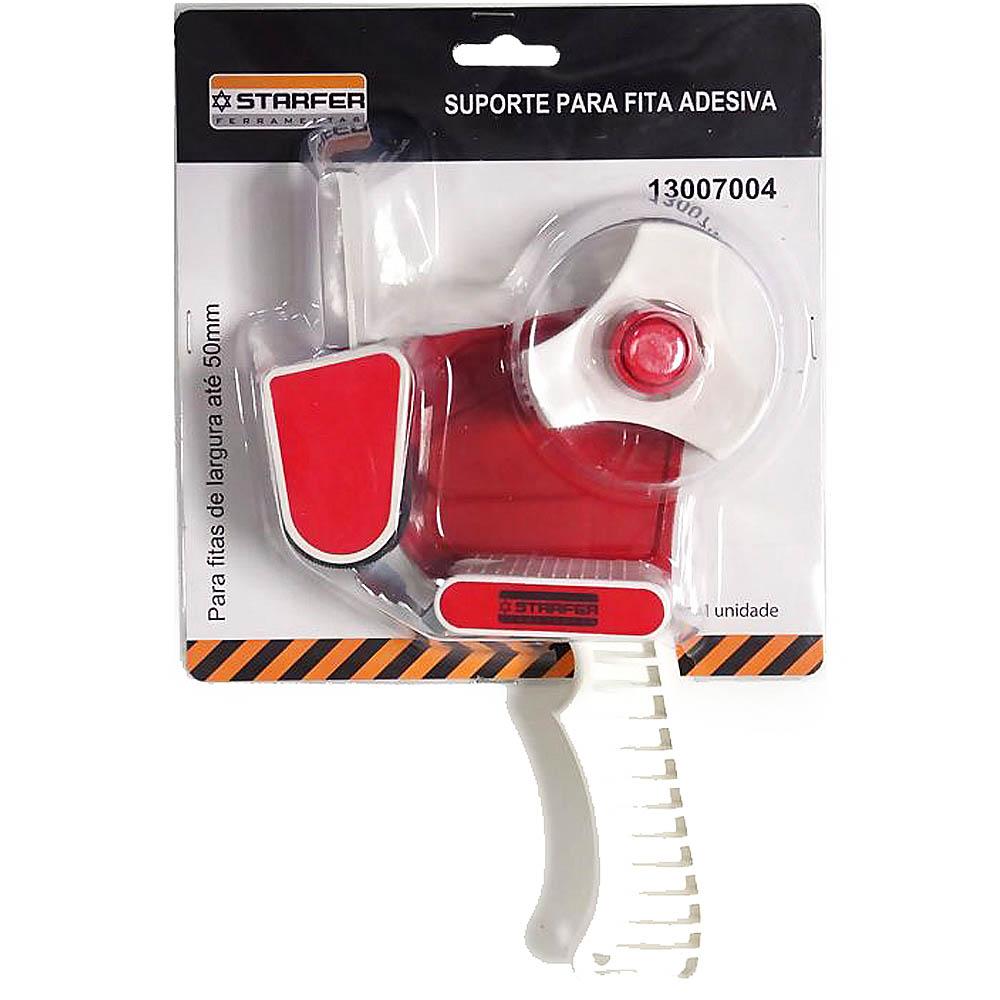 Kit Suporte p/Fita de Embalagem + Fita de embalagem transparente Adelbras 48x45