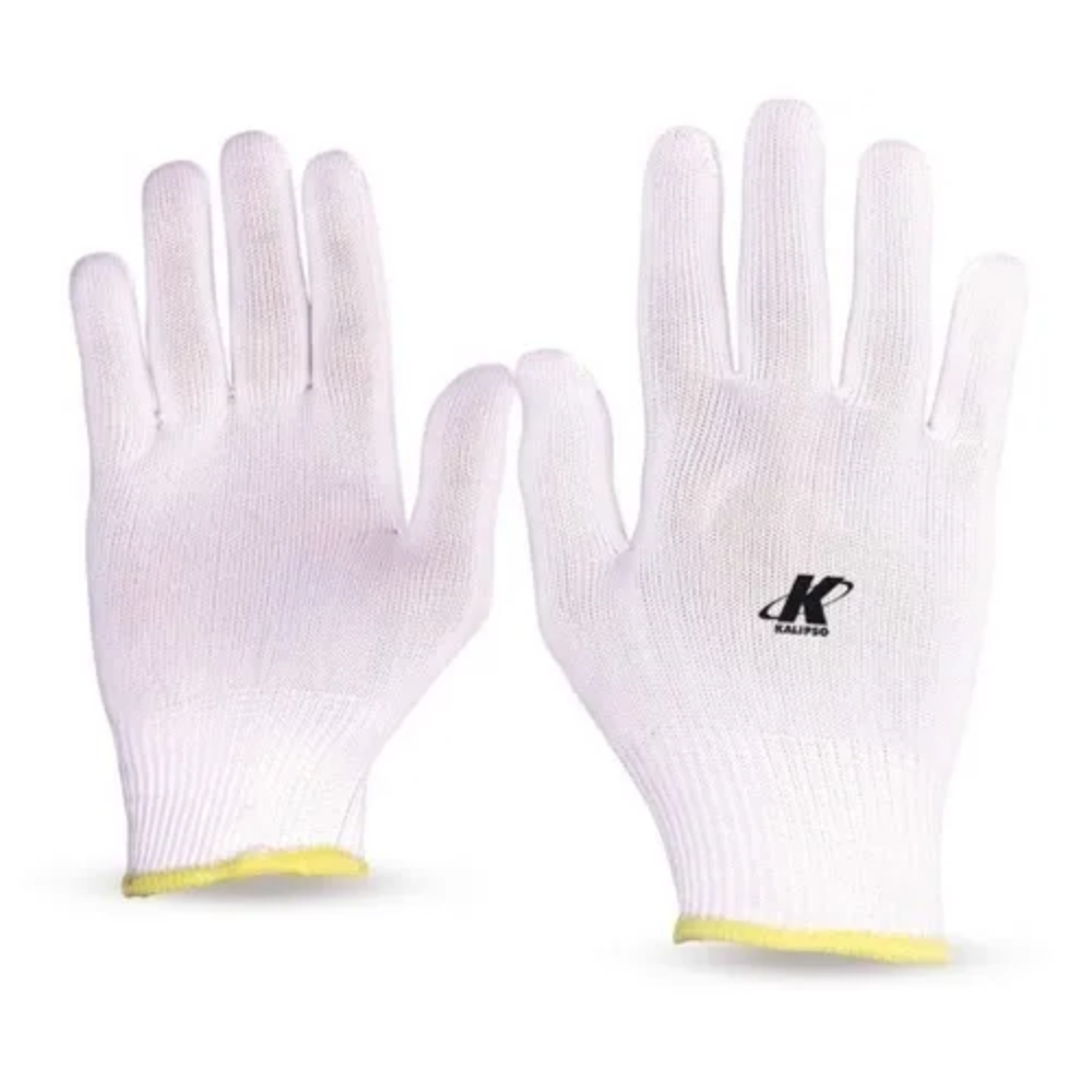 Luva de proteção helanca lisa Kalipso Branca