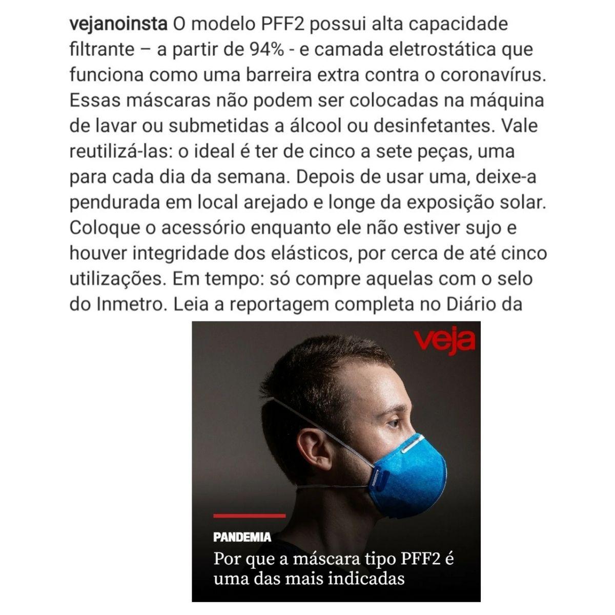 Máscara respiração com válvula PFF2 ProSafety - 20 unidades