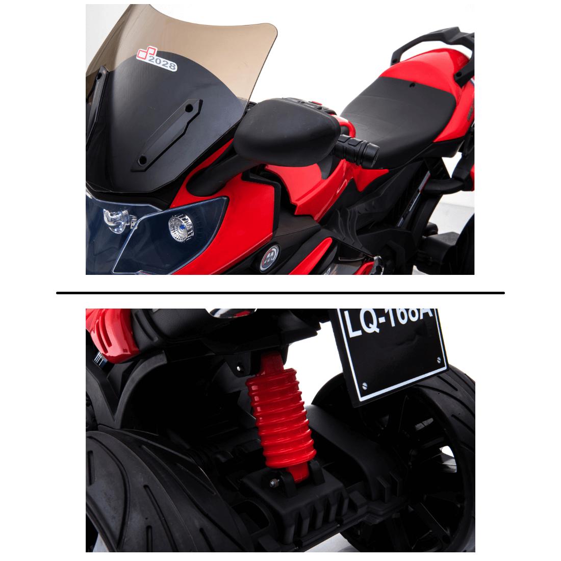 Mini Moto Elétrica Infantil Motorizado Brinquedo Criança Red