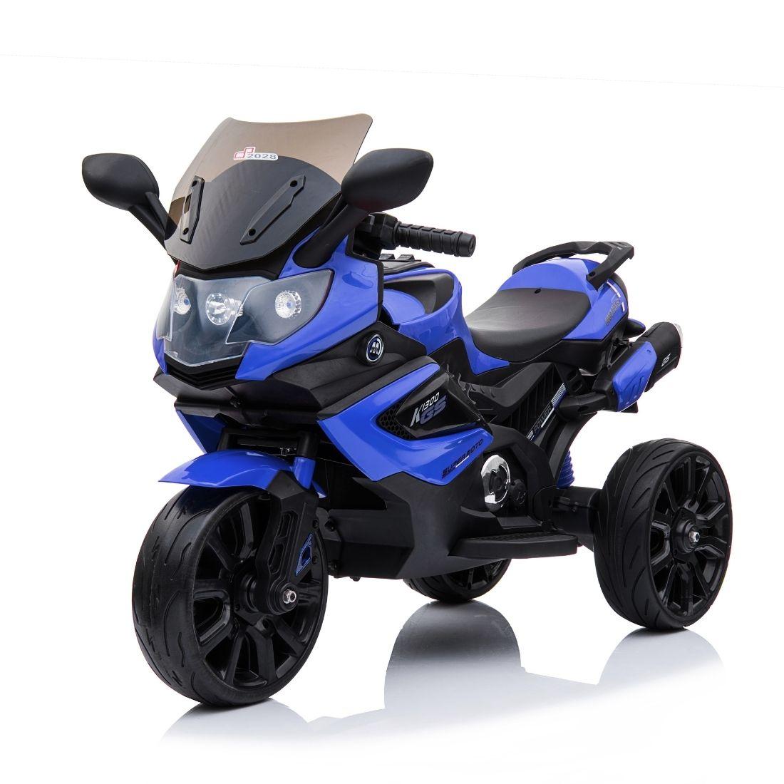 Mini Moto Elétrica Infantil Triciclo Criança Motorizado Azul