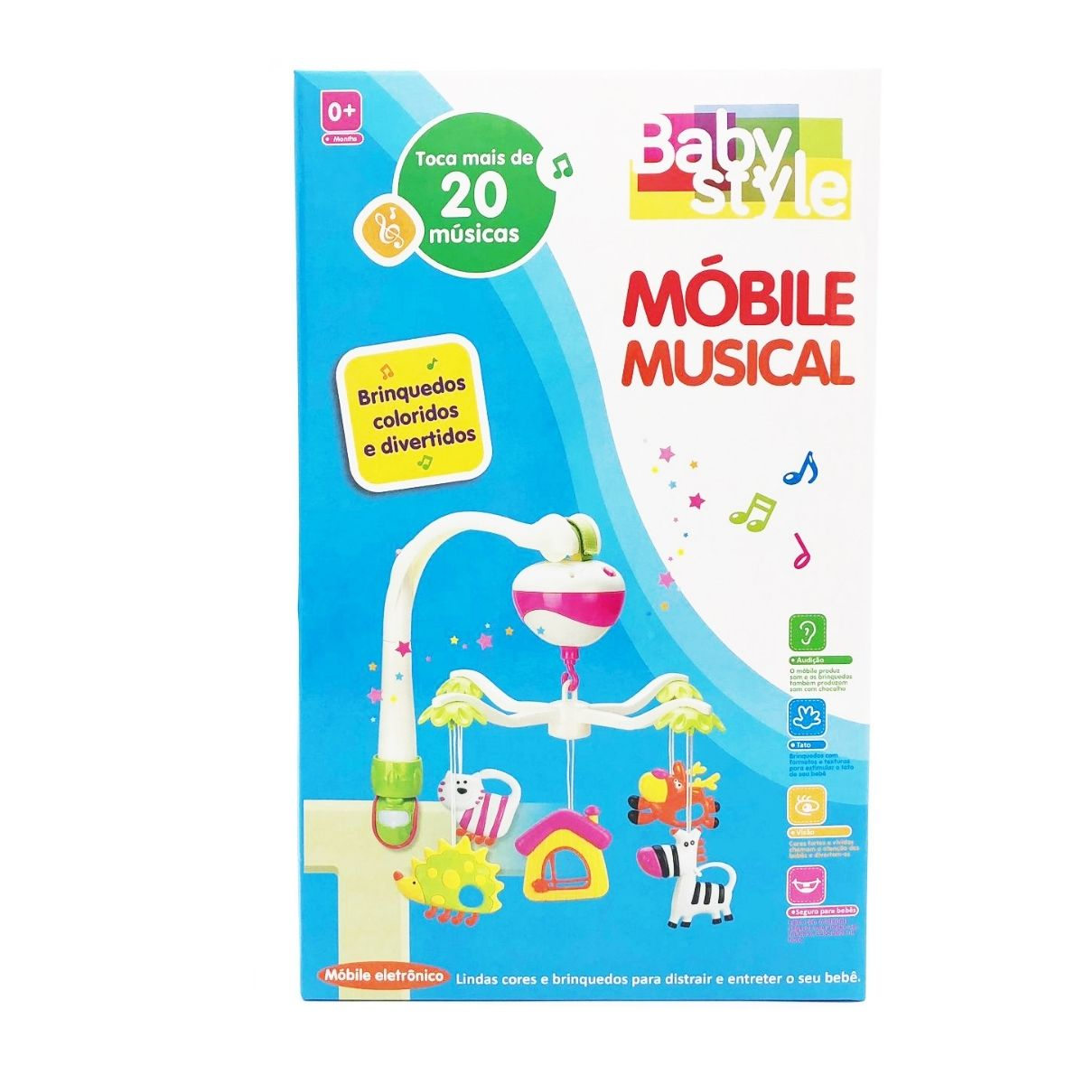 Mobile eletrônico plástico casinha Infantil musical - Baby Style