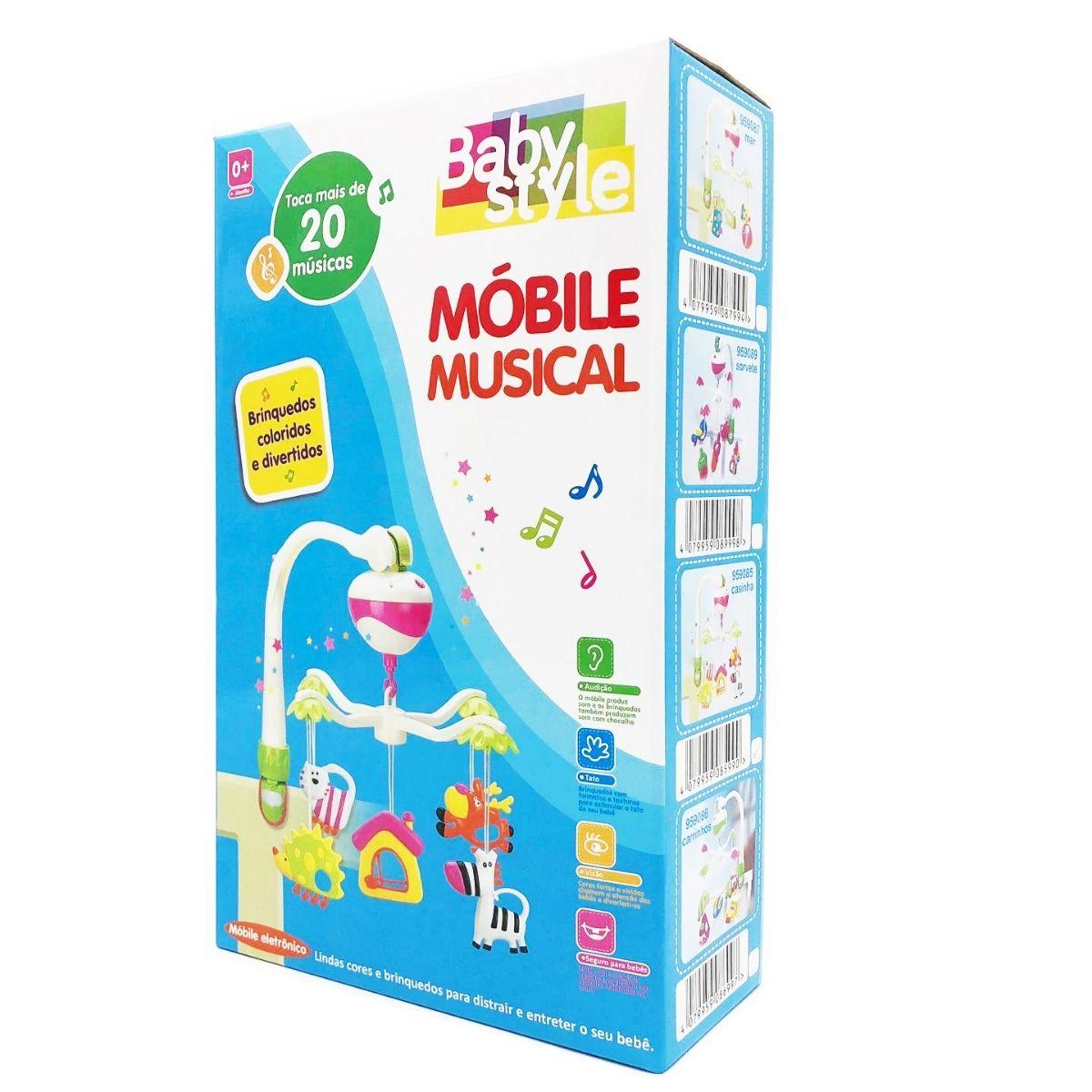 Mobile Eletrônico plástico sorvete Infantil musical - baby Style