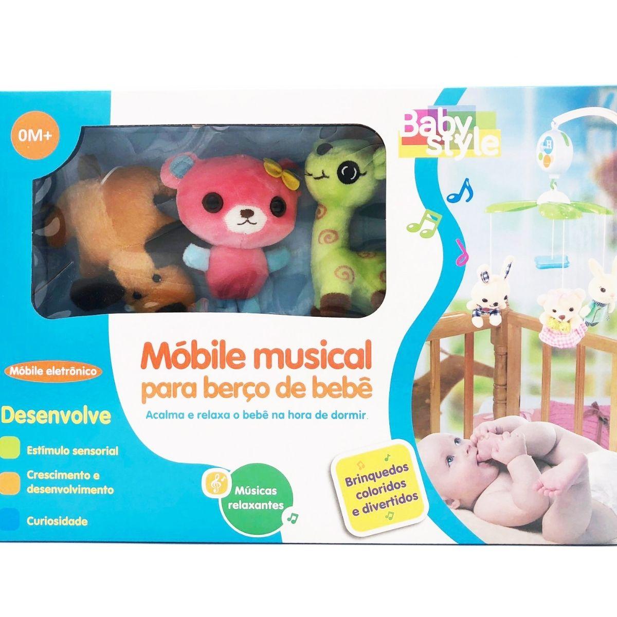 Mobile Eletrônico plush girafinha Infantil musical - Baby Style