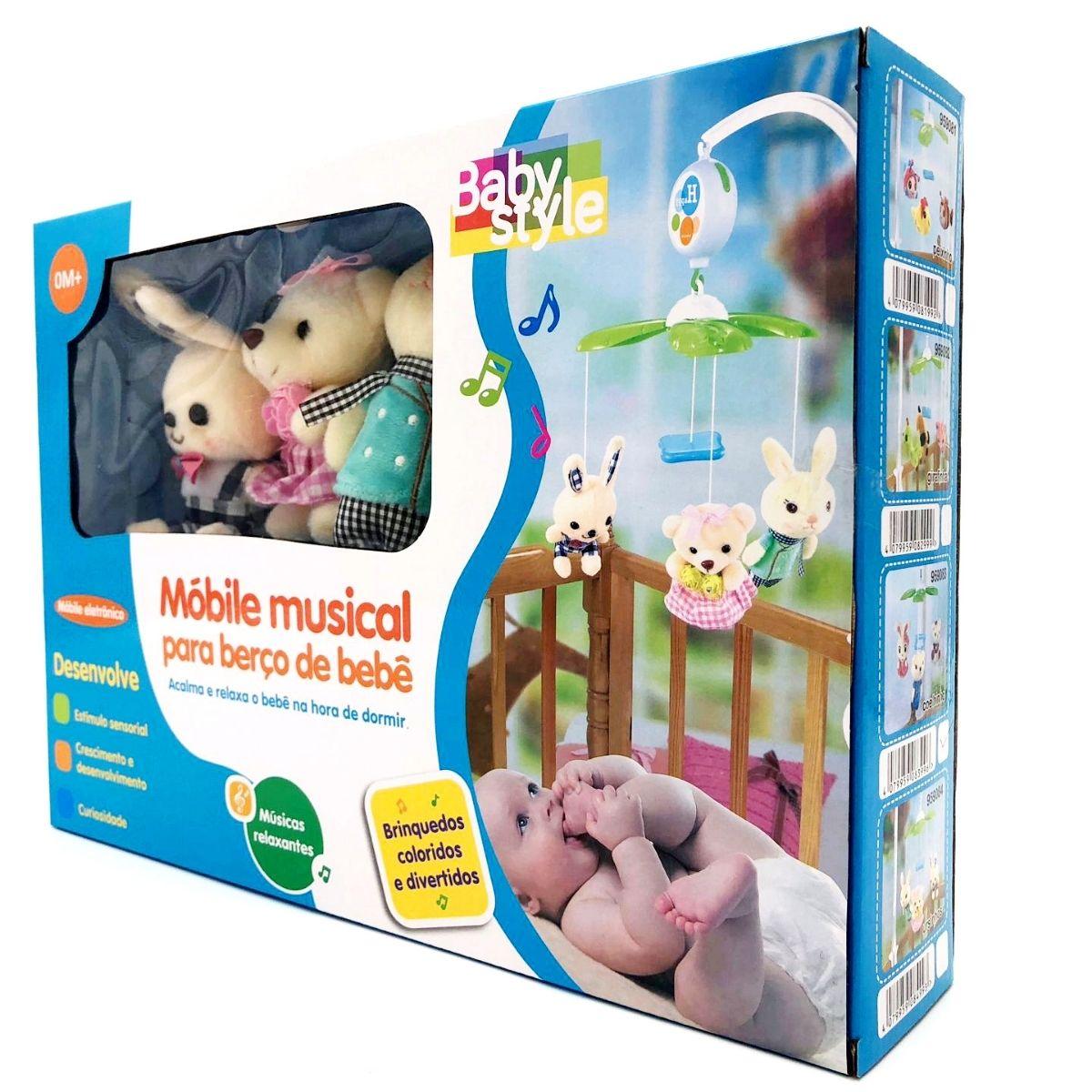 Mobile Eletrônico plush ursinho Infantil musical - baby Style