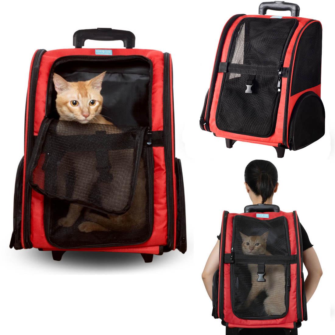 Mochila Bolsa Pet Transporte com Rodinhas Passeio Viagem Cães Gato
