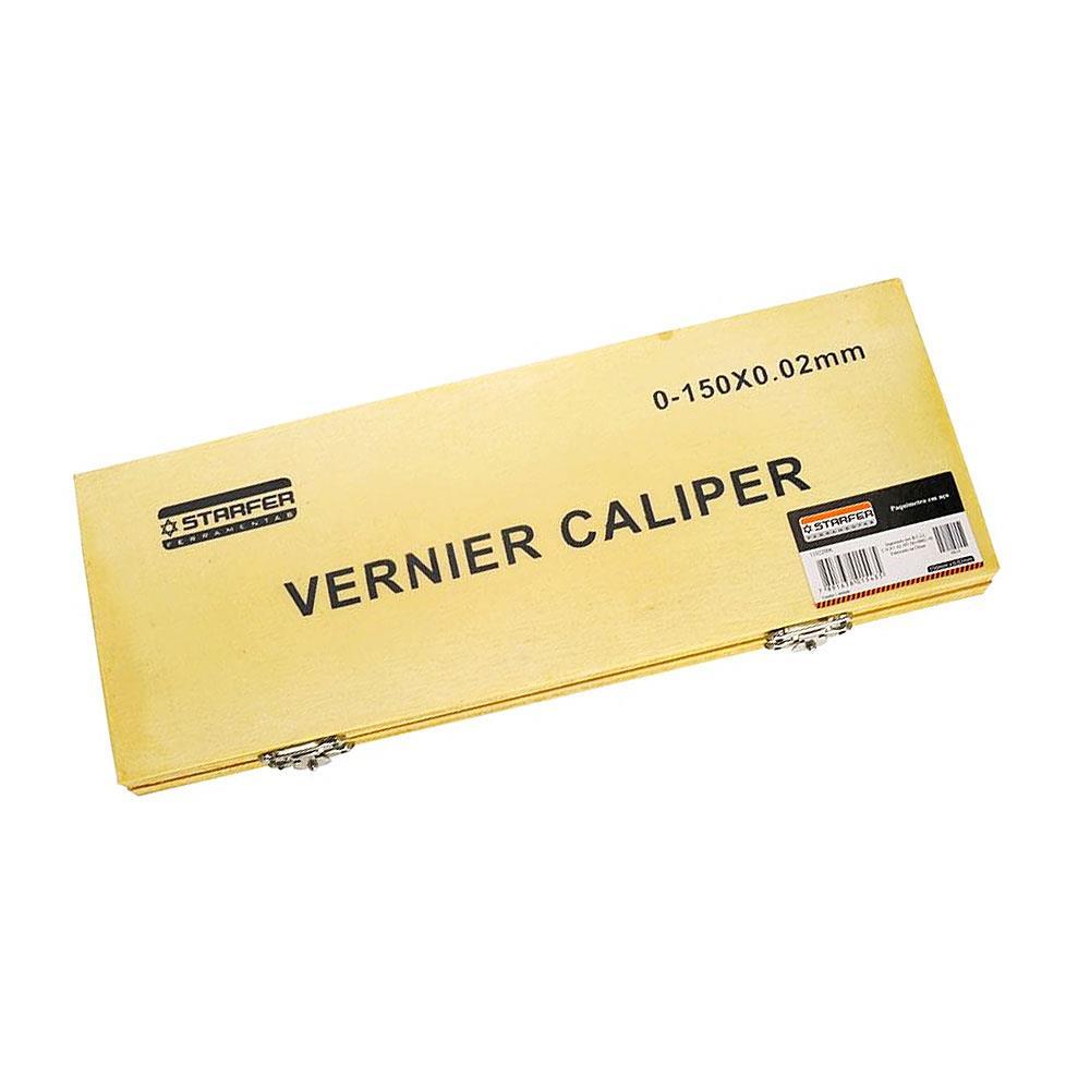 Paquímetro em aço 200mm x 0.02mm Starfer
