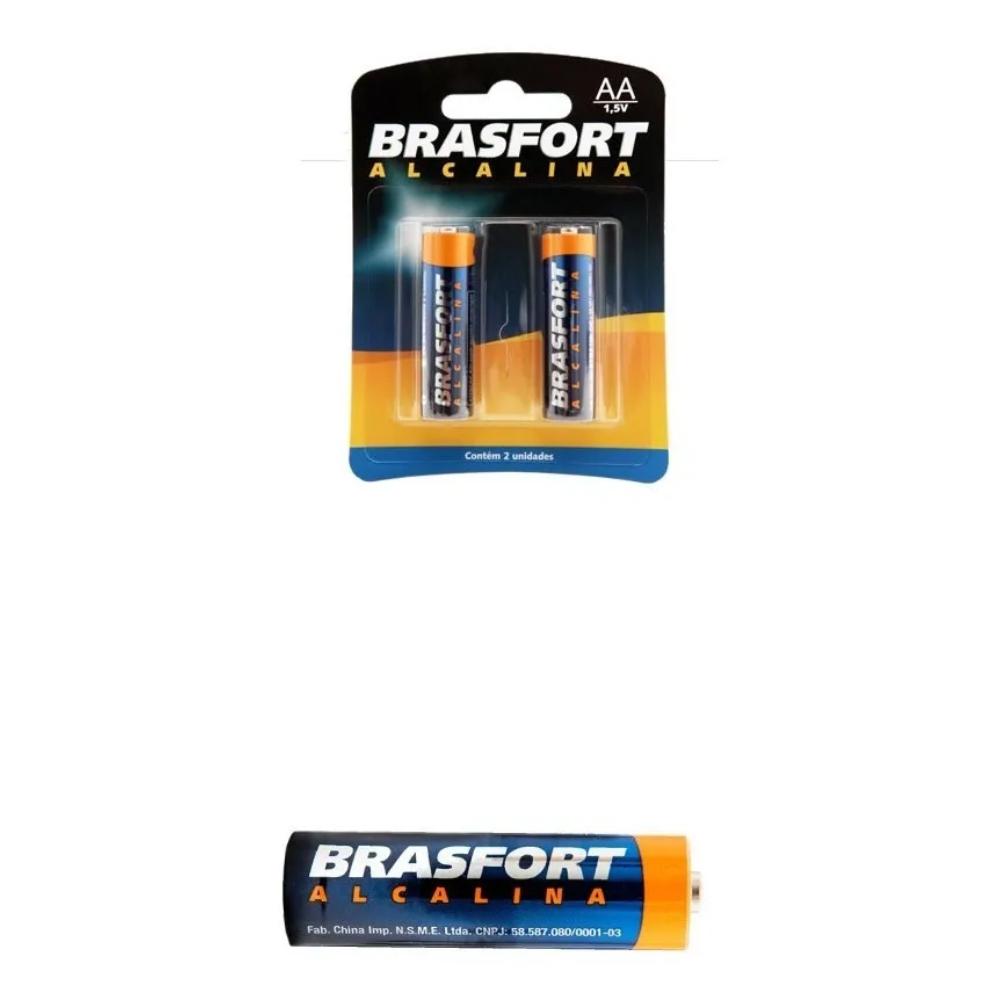 pilha alcalina AA 1,5 volts Brasfort